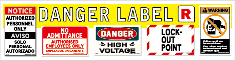 danger label